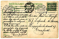 Birthday greetings from cousin Truus van de Pavert in Arnhem 1908
