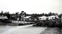 Unmade Hayden Road in the early fifties, taken from number 10, looking towards (invisible) Westall Rd.
