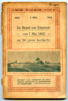 The fire of Enschede commemorated with this book in 1912